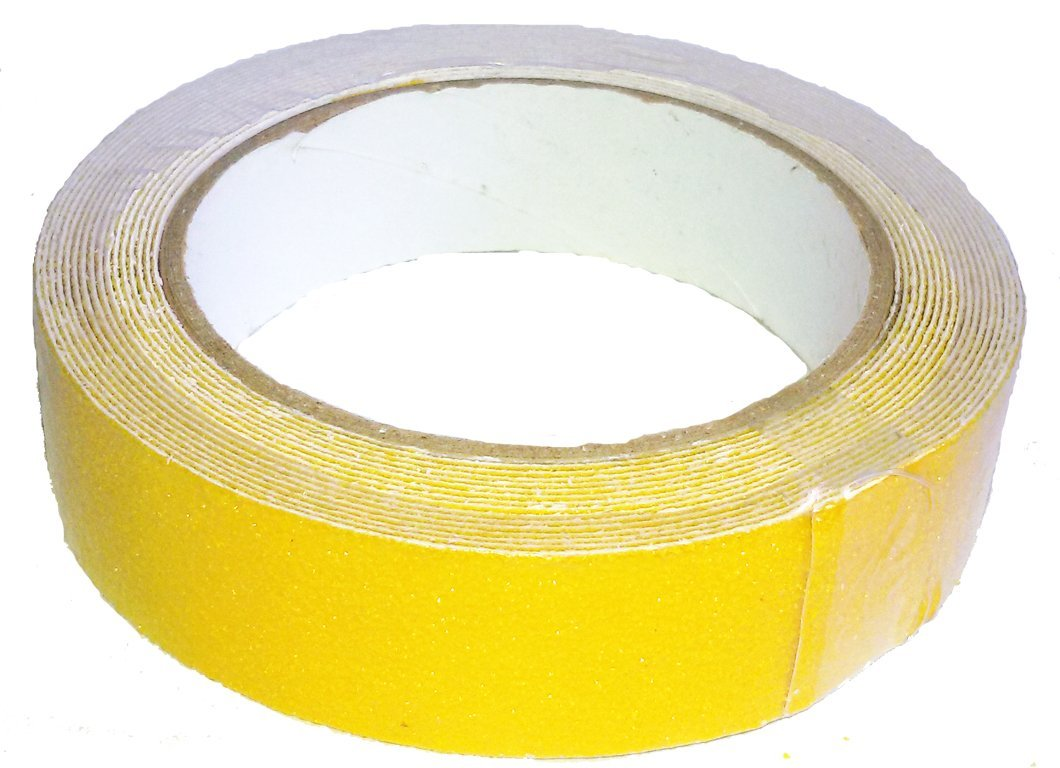 Yellow Anti Slip Safety Grit Non Slip Tape Highest Traction 0.98 Inch x 16.4 Foot,Anti-Slip Tape, Floor tape,stairs Tape,Safety Tape