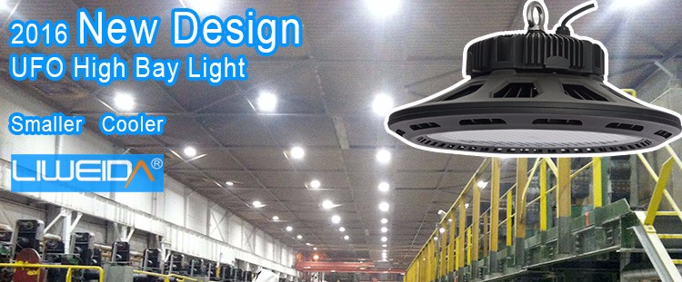 Retrofit projects industrial lighting 160w UFO LED high bay lighting with DLC UL TUV approved