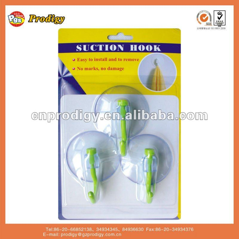 resuable hook series plastic suction cup hook