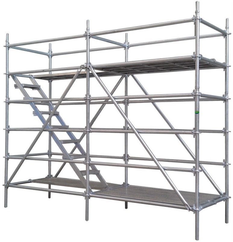 System Scaffold Components : Q steel galvanized layher used ringlock scaffold system