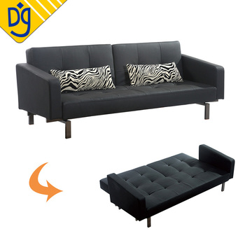 Factory Direct Flexible Black Leather Sofa Bed To Dubai