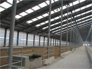 Prefab Steel Structure Cattle Farm And Dairy Design