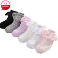 Spring Summer Girls Solid Corlor Socks Lace Cotton Socks For Baby Girl Child White Mesh Socks