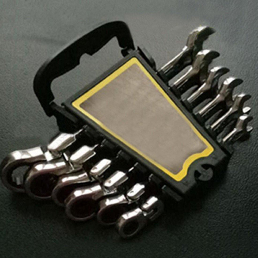 7MM Chartsea Flexible Pivoting Head Ratchet Combination Spanner Wrench Garage Metric Tool 6mm-12mm