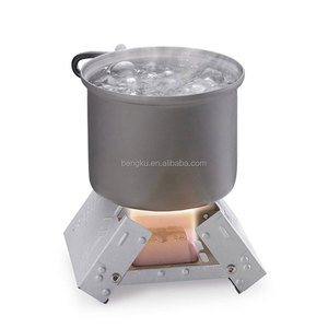 camping backpacking small wood alcohol stove