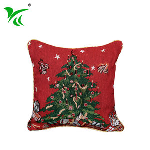 Concise design jacquard woven Christmas tree pillow cushion cover decorative