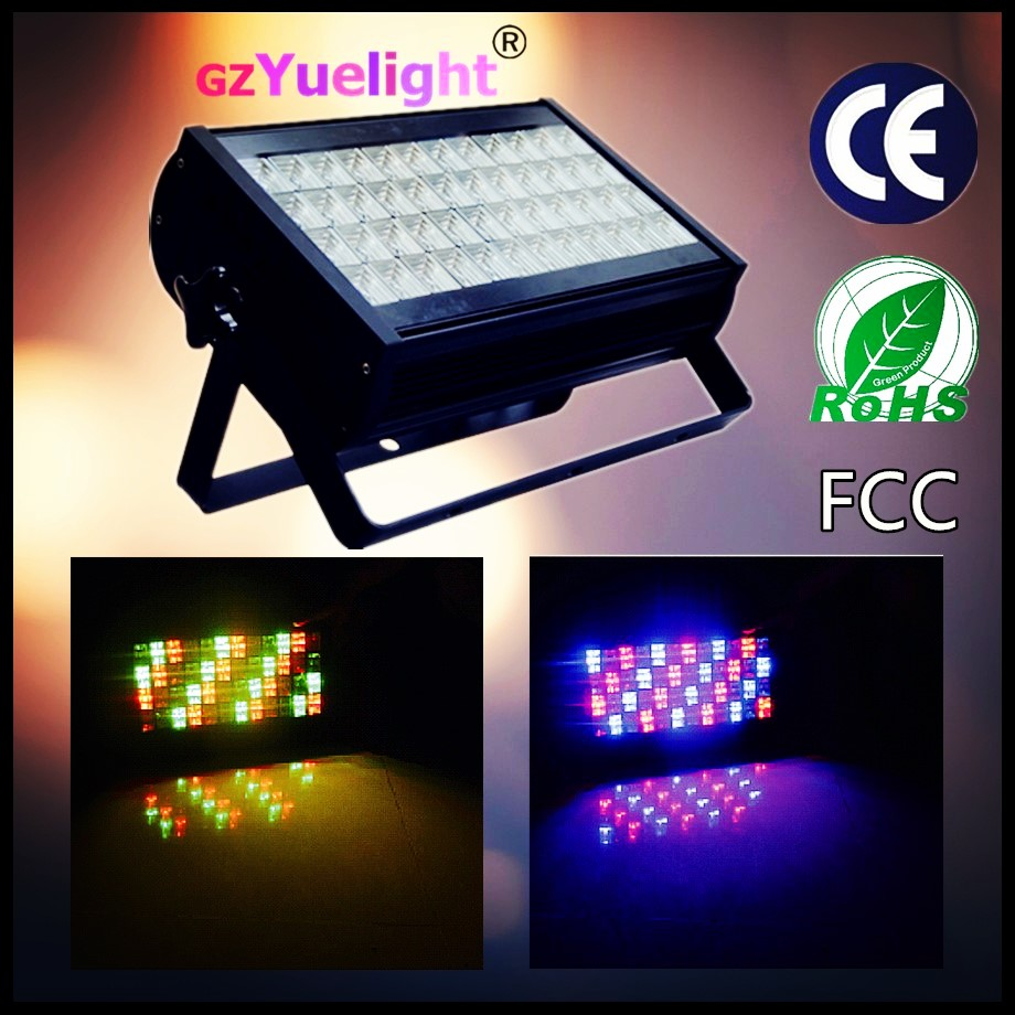 Yuelight powerful rgbw 48pcs*1/3w led wall washer floor light