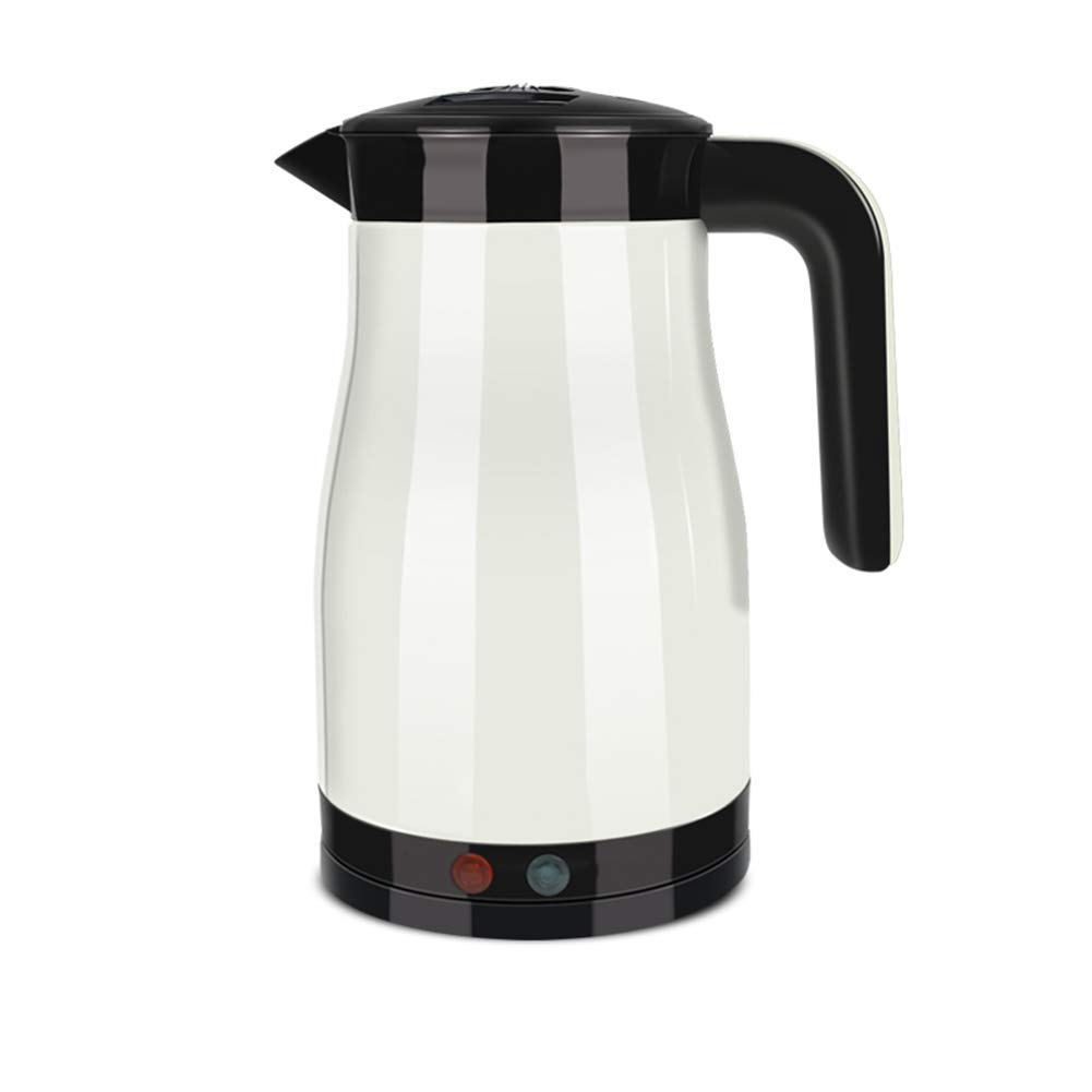 Electric Kettle Household 304 Stainless Steel 1350W Automatic Power Off Kettle One-button Insulation Seal Leakproof Seamless Liner 1.5L White (Color : White, Size : 201526cm)