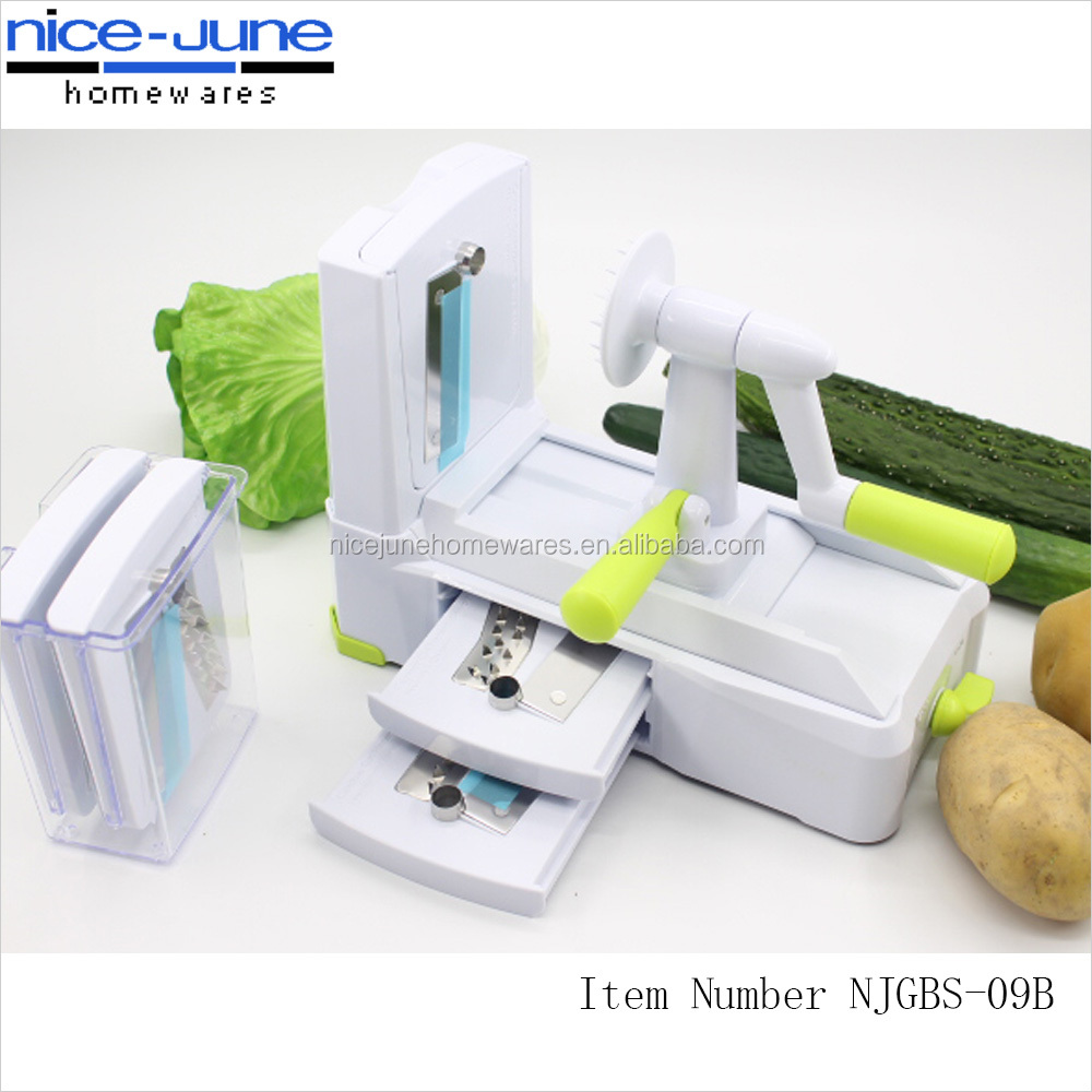 Multifuntional 5 in 1 spiral grater vegetable spiralizer