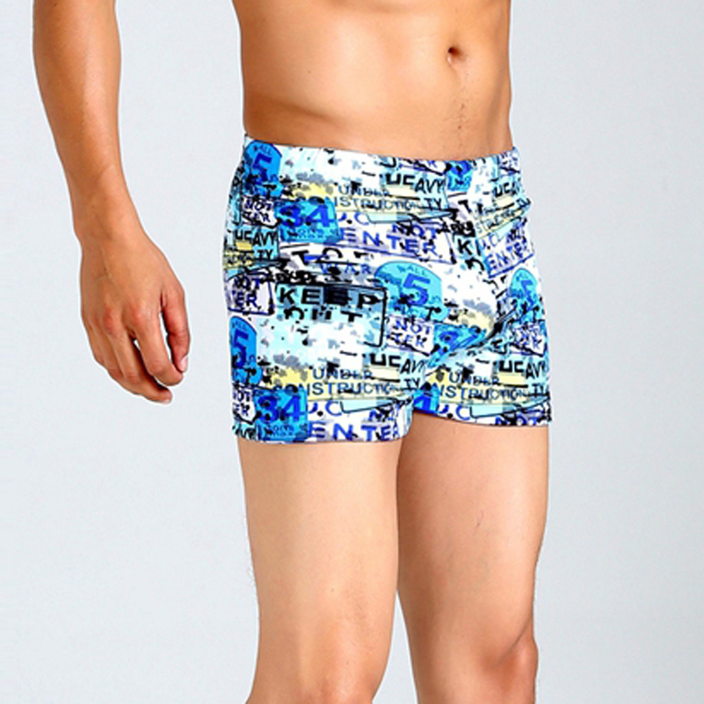 8bb74dcfb6a96 2019 3D Seamless Print Sexy Swim Suit For Men Plus Size Swimwear Low ...