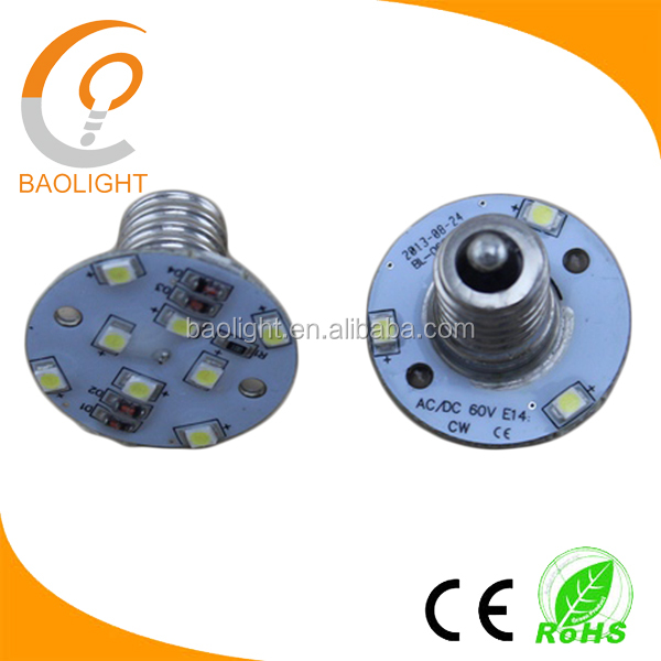IP44 ac220V ac24v ac60v e10 e14 amusement led lamp 1.2W
