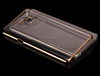Electroplated Transparent PC mobile phone case for Samsung Galaxy note 5/N9200