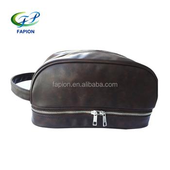 d4a79e724 Para Hombre de cuero, neceser, bolsa de viaje para hombres bolso de kit de