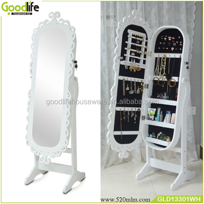eafa8777eed3b مرآة خزانة المجوهرات اللون الأبيض الجملة قوانغدونغ-خزائن غرفة ...
