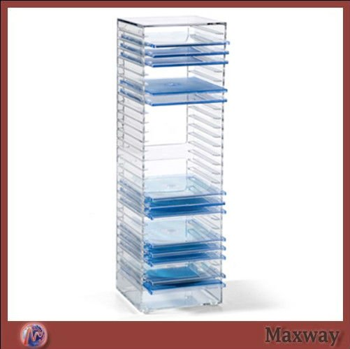 Vertical Free Standing Exquisite Acrylic Clear Perspex VCD/DVD Rack