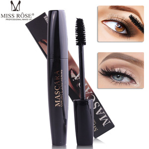 Miss Rose 4D mascara waterproof long lasting Curling Thick black mascara 4D silk fiber lashes extention mascara