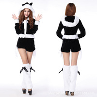 New style girl adult white winter christmas costumes