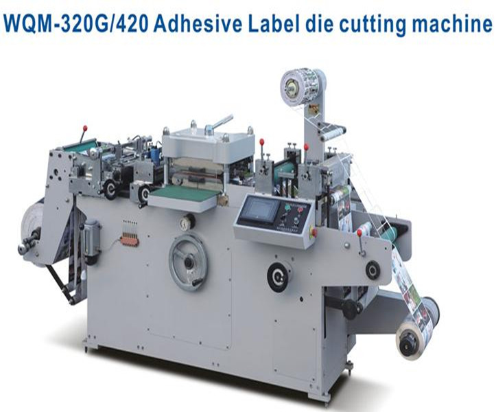 WQM-320G Automatic paper flatbed adhesive label roll die cutting machine price