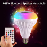 Very hot sale!!! Cheap price 12w E27/E26 wireless bluetooth speaker RGB led music bulb with remote control