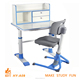Height adjustable wood ergonomic desk HY-A09 for kids