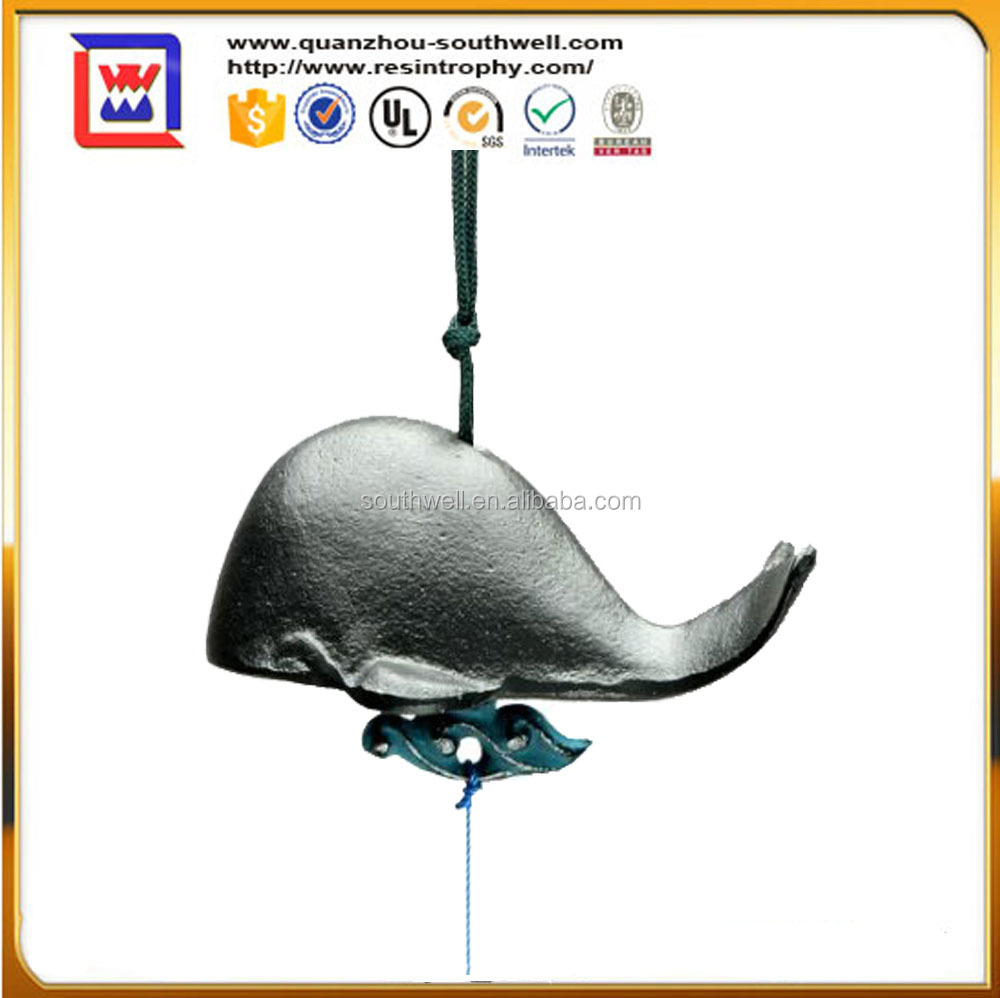 home decorative Pottery bar chimes and Enamel whale shaped windbell