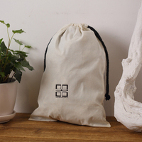 Rice white light weight cotton muslin bag for book ,gift