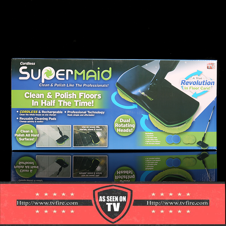 Super Maid Cordless Electric Spinnender Mikrofaserzauber