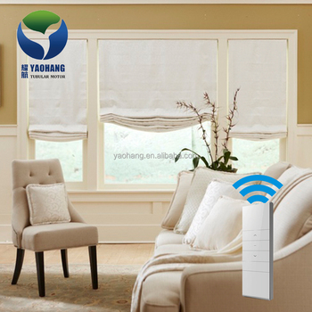 Yaohang Custom Price Electric Roller Shade Bathroom Roman Blinds Top Down