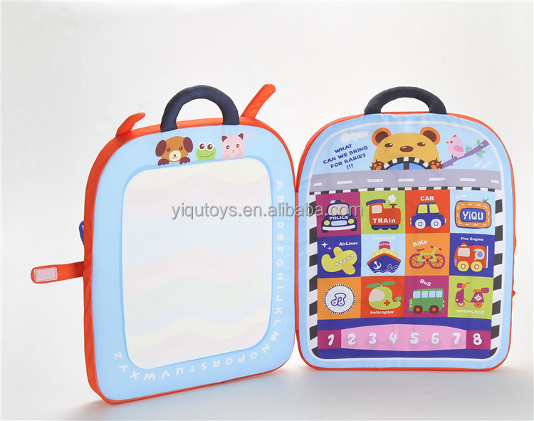 Educational Toys Children 3d Cartoon Bag Two In One Musical Water ...
