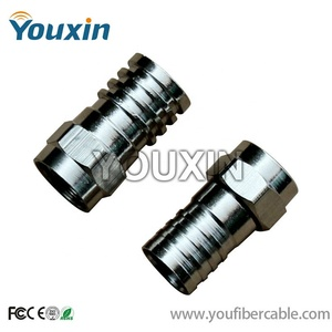 75 ohm coaxial cables rg59 rg6 on connector F Crimp Type