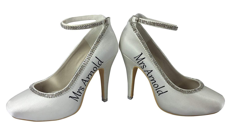 2ae681146709 Get Quotations · Rhinestone Purple Strappy Wedding High Heels