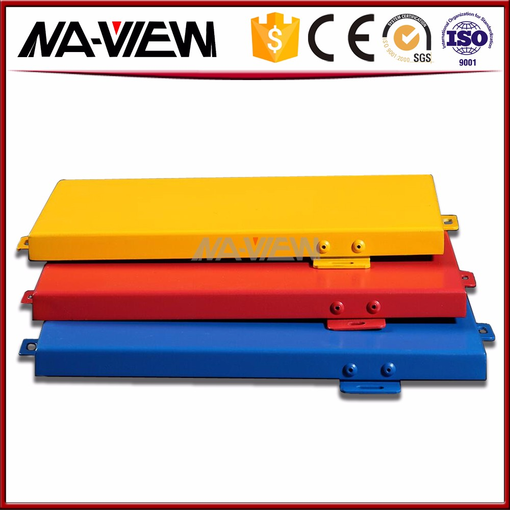 Colorful solid fireproof aluminum single panel
