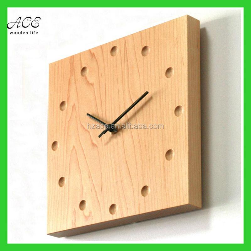 e393826e4 عرف الخشب ساعة الحائط ديكور المنزل ساعة الحائط الخشب ساعات الحائط السلع  المنزلية