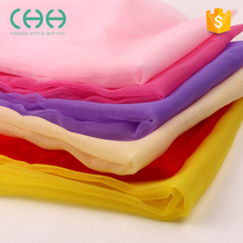 Wholesale high density fire retardant durable cloth material solid color organza fabric for wedding dress