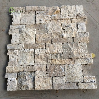 Natural Split Face Beige Travertine Exterior Wall Stacked Stone Wall Stone Panel Decorative Wall Stone Veneer Buy Exterior Wall Stacked