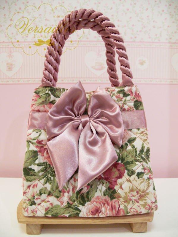 Bolso del patrón de flor 100% hecho a mano
