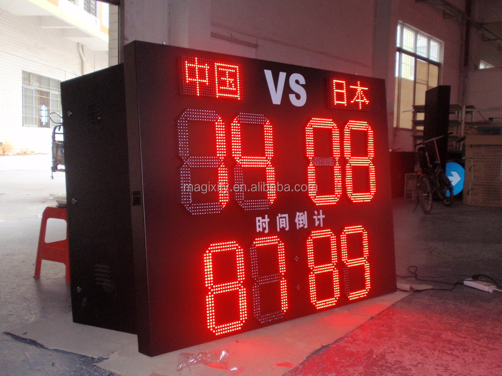 outdoor stand led display green gas station price sign board