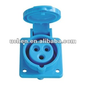 Uchen female industrial plug and socket 16a 3 pin for industrial