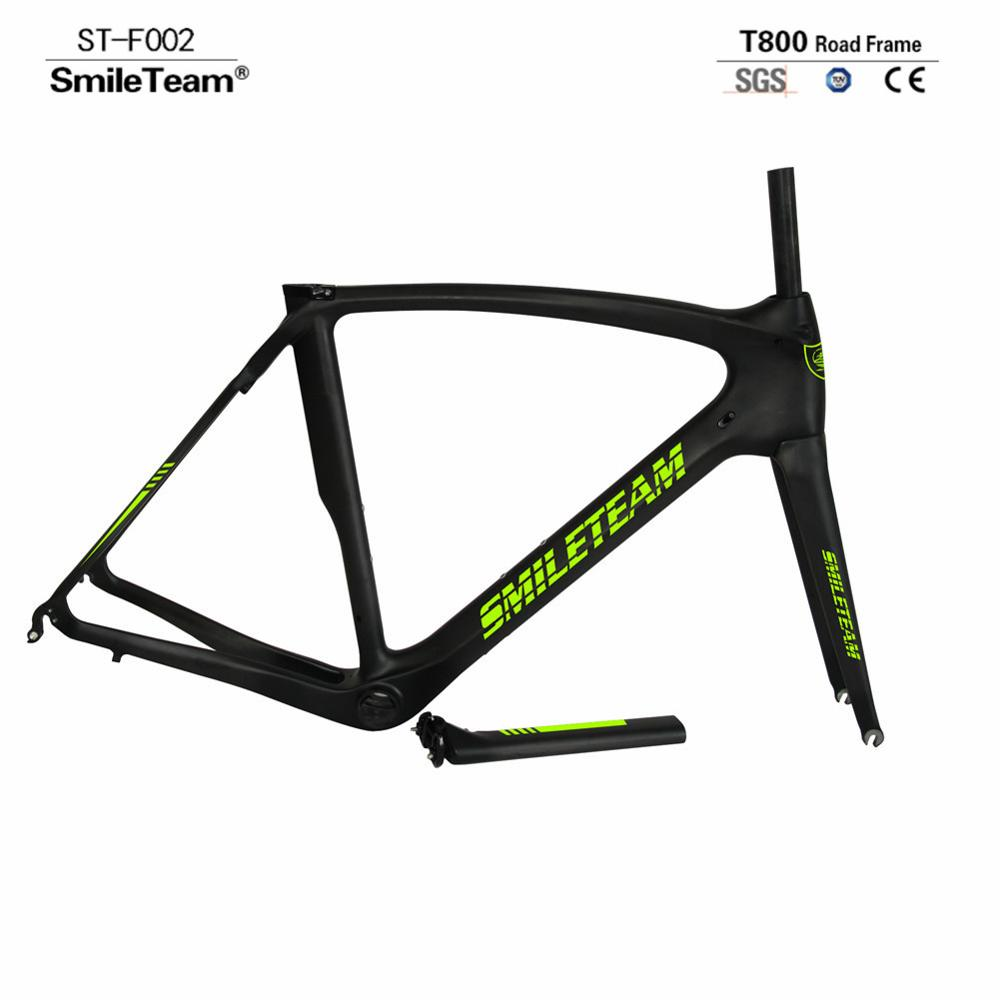 Smileteam 700C Full Carbon Fiber Road Bike 22 Speed Toray T800 Racing Carbon Complete Bike Wholesale