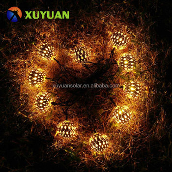 Solar Moroccan Ball String Lights, Globe Christmas Lights for Outdoor Home, Patio, Lawn, Garden, Party, Holiday Decorations