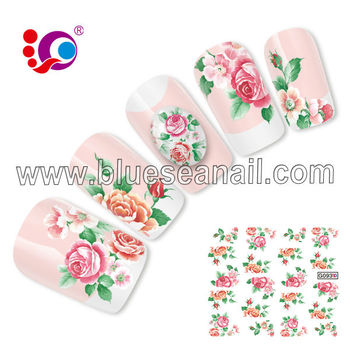Designer press on nails flowers decals buy designer press on designer press on nails flowers decals prinsesfo Choice Image