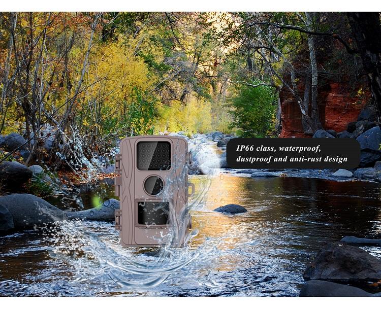 Trail Avcılık Kamera 2.0 Inç Renkli TFT LCD Whildlife Kamera Gece Görüş Ile Kızılötesi