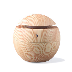Amazon Best Sellers 2018 Aroma Held Hand Wood Grain 130ml Cool Mist Humidifier with Auto Shut-off & Eco-friendly Oil Diffuser