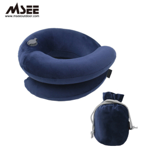 Ring Type Inflatable Wholesale beach woollip ultimate travel pillow neck pillow