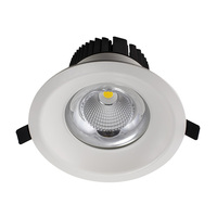 CE Rohs 20W COB LED retrofit recessed downlight , ceiling cut hole size 120mm