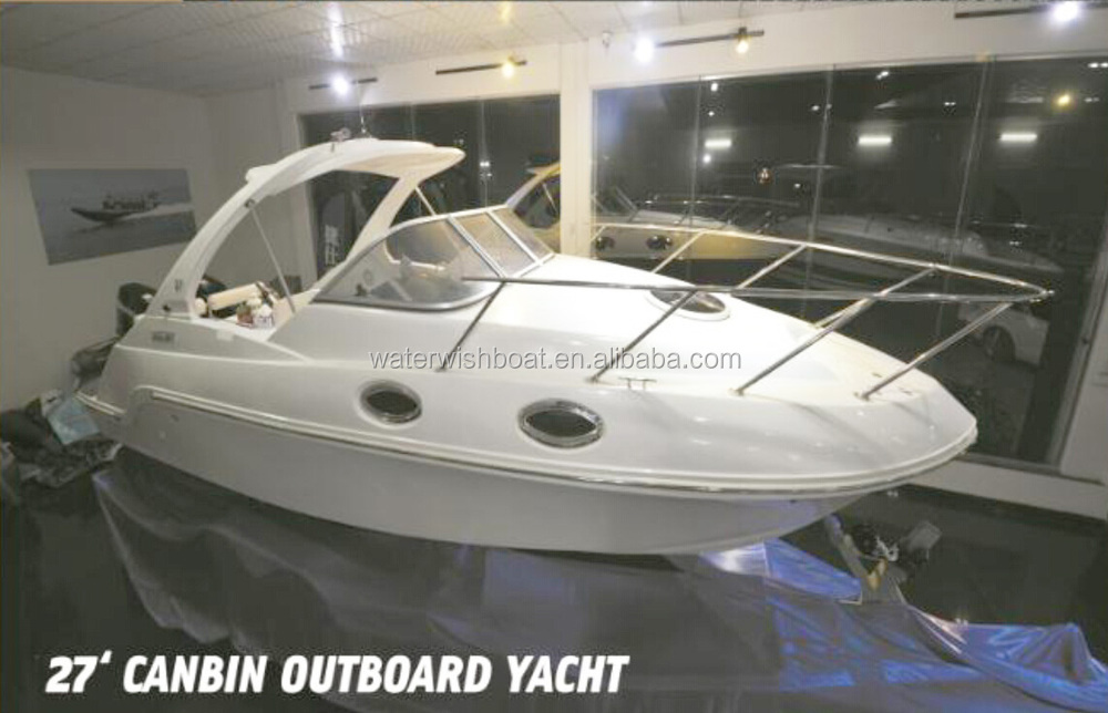 QD 20.5 Cabin Fiberglass Sport Fishing Boat With Outboard Motor