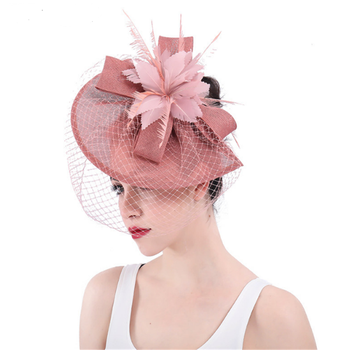 British Fashion Ladies Wedding Bride Cocktail Race Sinamay Fascinators Hat  - Buy Ladies Sinamay Church Hats 446d96f9f63
