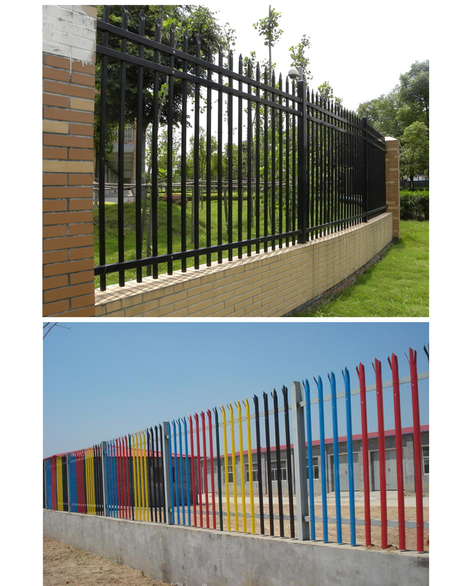 Made In Guangzhou galvanized/pvc coated palisade fence