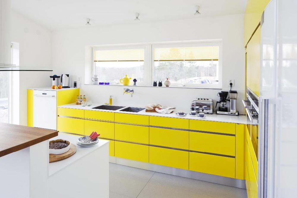 Kombination Speisekammer Schränke,Shaker Mdf Gelbe Küchenschränke ...