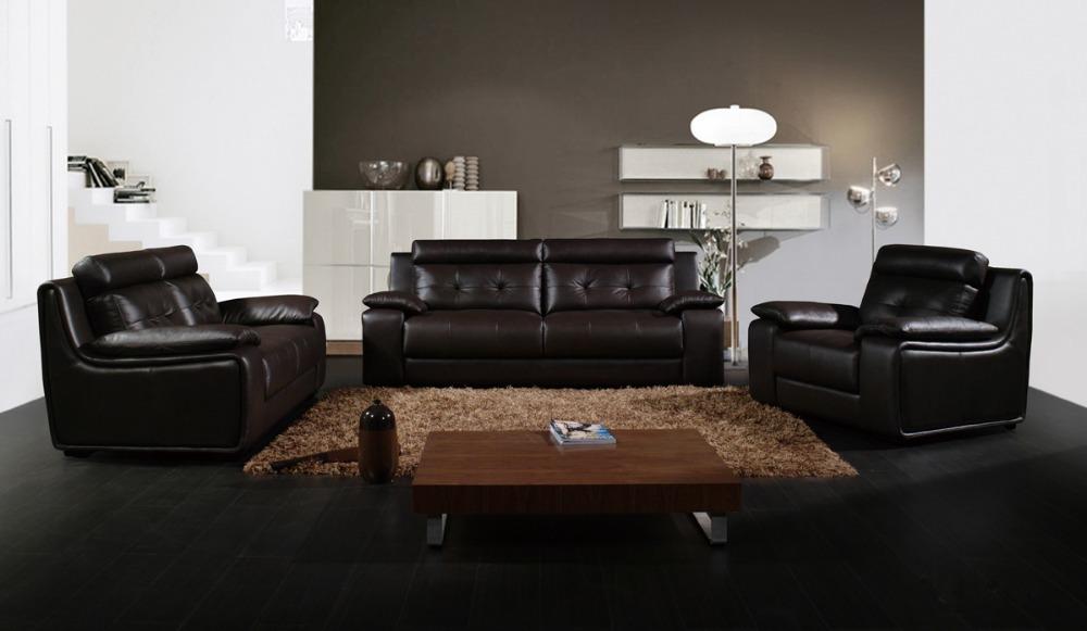Luxurious Italian Leather Living Room Furniture: JR HAWAII Top Grain Chesterfield Modern Luxury Style Sofa
